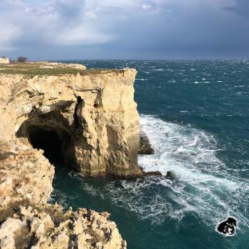 Grotta della Poesia, scogliera