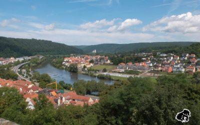 Il castello di Wertheim, alla confluenza tra Tauber e Meno